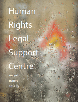 Front cover of Annual Report 2012 to 2013
